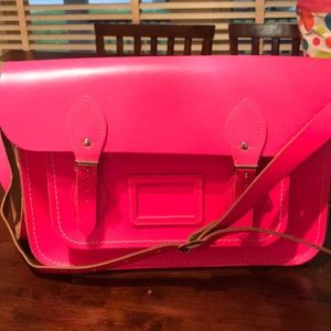 14-in Hot pink Cambridge Satchel Company satchel